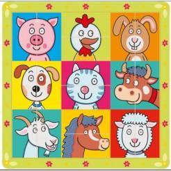 Puzzle Capete de animale
