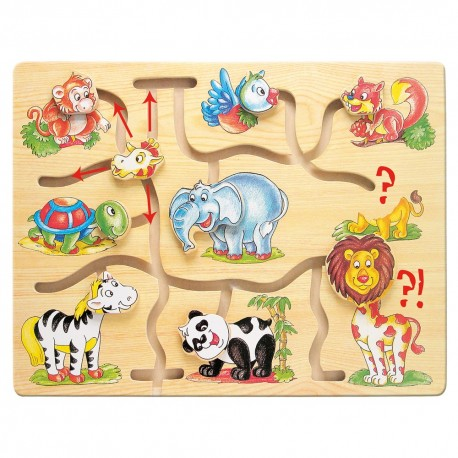 Labirint Potriveste capetele animalelor
