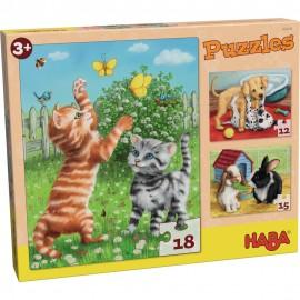 Puzzle progresiv cu animale