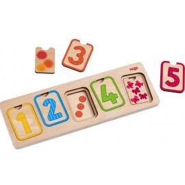 Puzzle de lemn cu numere