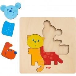 Puzzle incastru animale colorate