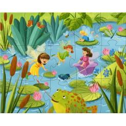 Puzzle cu sclipici Tara zanelor