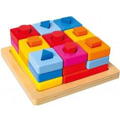 Jucarie cu forme geometrice din lemn