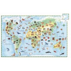 Puzzle observatie Animalele lumii Djeco