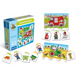 Joc Loto-puzzle cu mașinuțe
