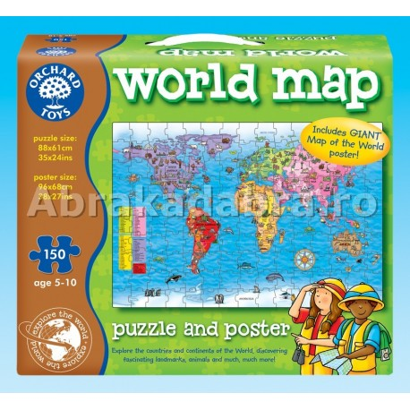 Puzzle Harta lumii