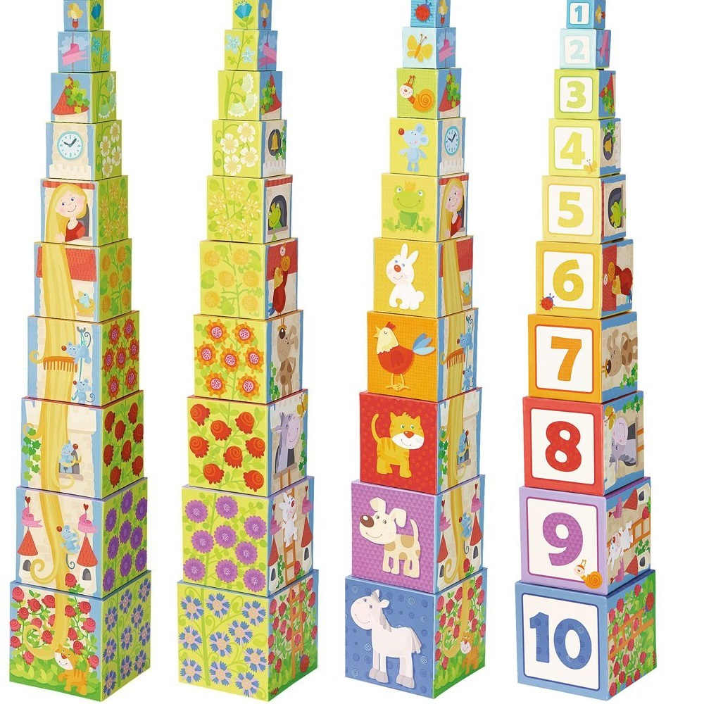 10 cuburi suprapuse turn fetite