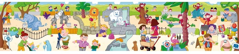 puzzle 2 ani animale zoo