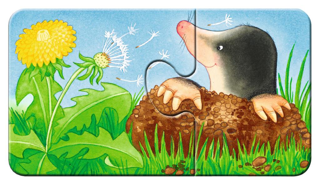 Puzzle Ravensburger cu animale dragute pentru copii mici