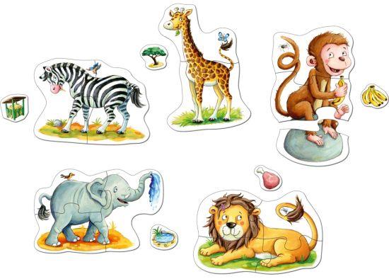 Puzzle animale salbatice Zoo