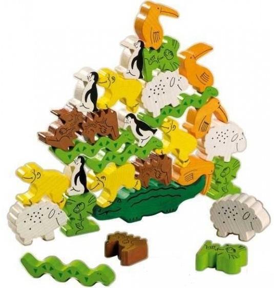 joc cu animale de lemn