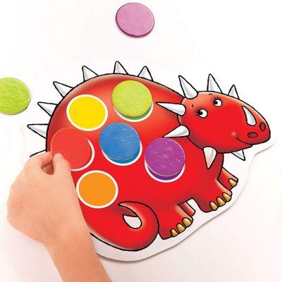 Joc educativ Dinozaurii - forme si culori Dotty Dinosaurs Orchard Toys