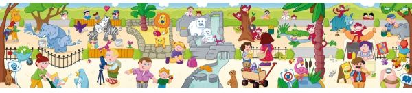 Puzzle podea piese mari Zoo