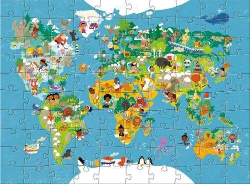 Puzzle Haba harta lumii
