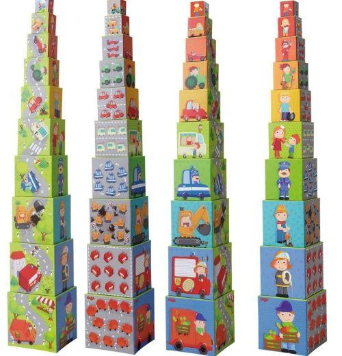 Turn din cuburi cu masinute Haba