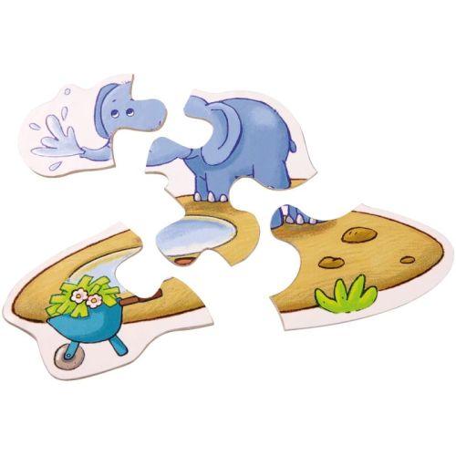Puzzle cu piese mari animale ZOO Haba